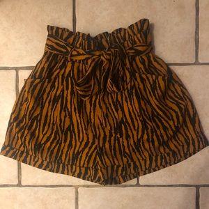 Pants - Zebra print shorts